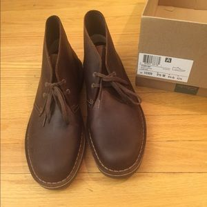 Brand new Men's Brown Leather Clark Boots size 9.5